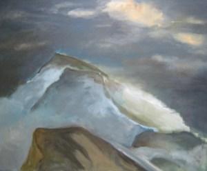 Im Hochgebirge  Acryl/LW  120x100cm  2012