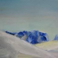 Schneehänge Öl/Papier 2012