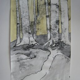 Im Hochwald 29x42 Monotypie 2008