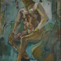 Harlekin, 70cm x 60cm, Acryl/LW, 1993