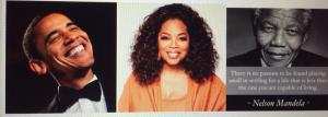 Barrack Obama, Oprah Winfrey and Nelson Mandela