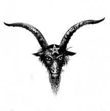 Image result for baphomet head