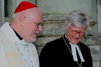 Nach der Vesper: Erzbischof Reinhard Kardinal Marx, Landesbischof Heinrich Bedford-Strohm