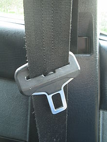 Seatbelt buckle in a car