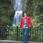 Michelle Poorte by a waterfall