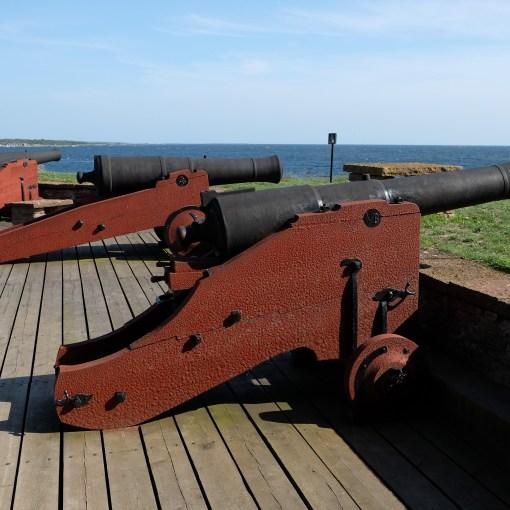 kanoner på drottningskär