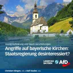 Angriffe auf bayerische Kirchen