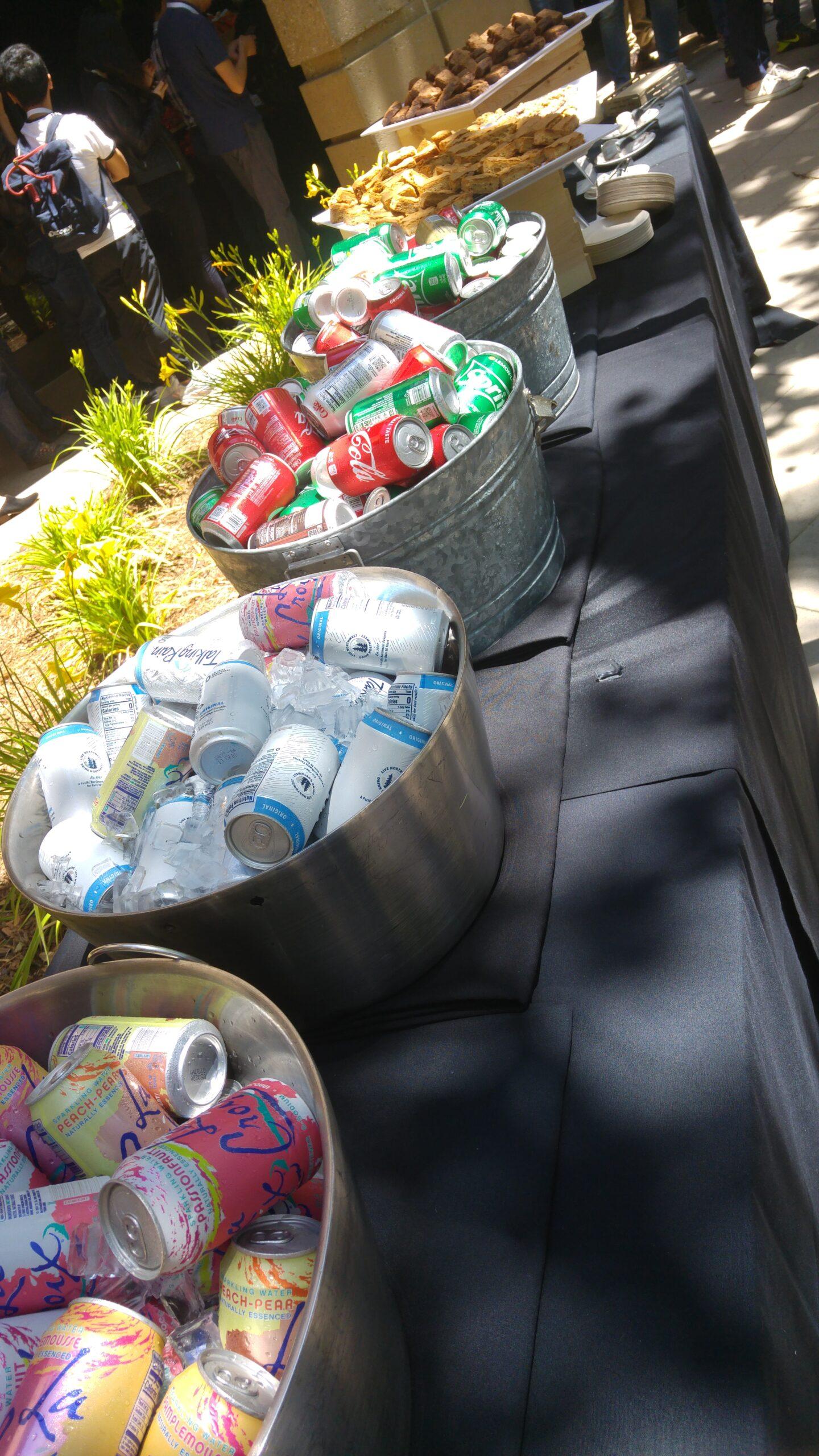 Lots of refreshments at Google