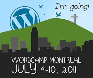 WordCamp Montreal 2011 Badge