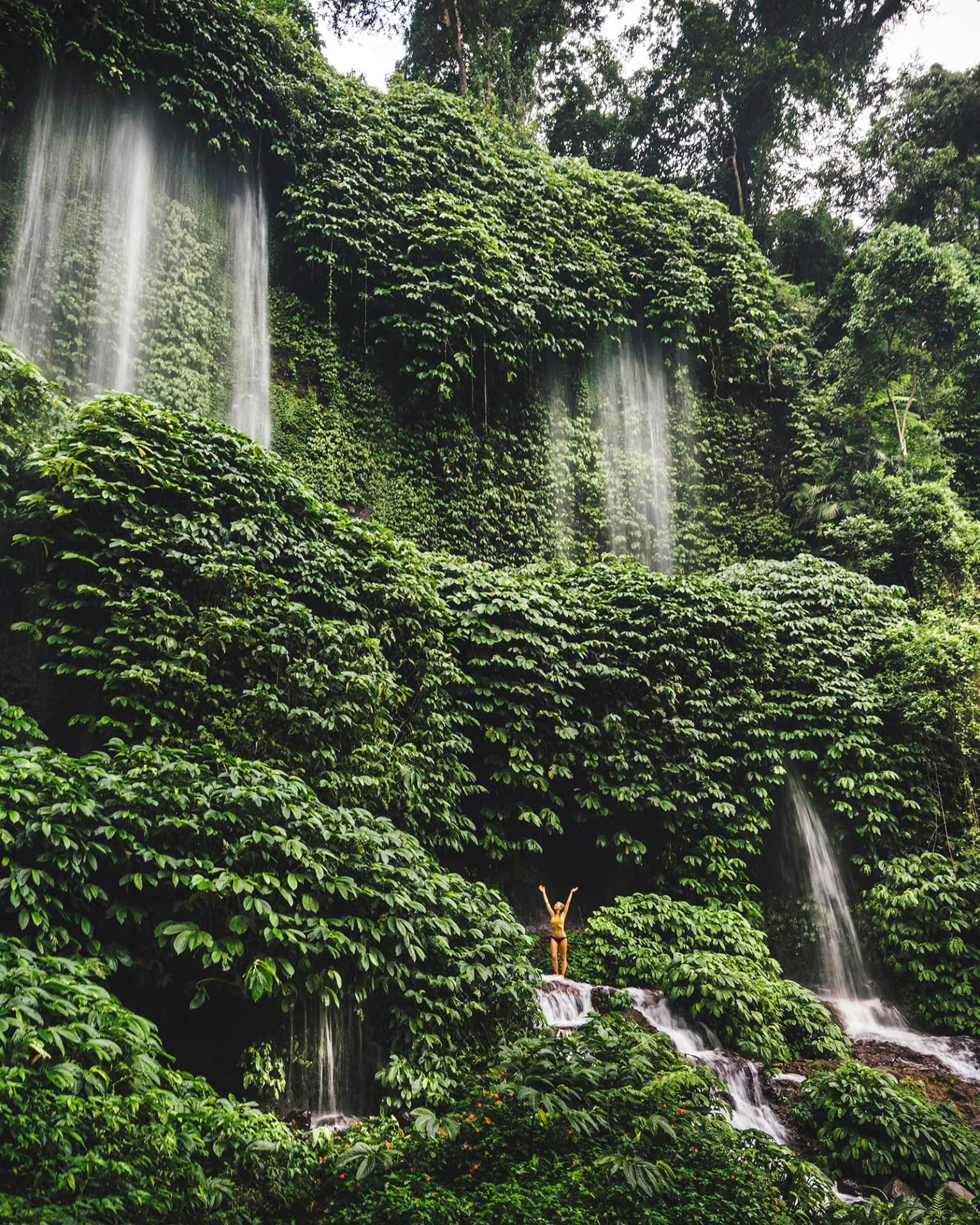Benang Kelambu waterfall, Lombok