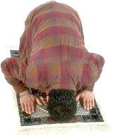 Muslim man praying. Illustration copyrighted.