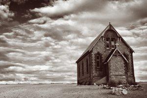 deserted desert church