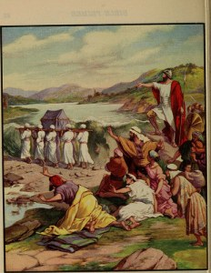 Joshua and Israel Crossing Jordan river