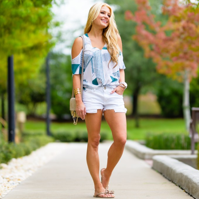 tank, labor day sales, cutoffs, cold shoulder top