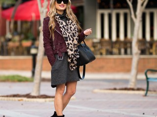 blanknyc suede jacket, sweater dress, booties, steve madden edit bootie, givenchy antigona, celine sunglasses, leopard scarf