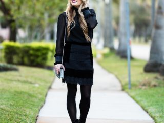topshop, velvet skirt, steve madden booties, edit booties, saint laurent handbag, dkny tights, nars,
