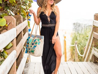becca swim, one piece, steven by steve madden, floppy hat, romper, cover up, steve madden, sam edelman, celine sunglasses