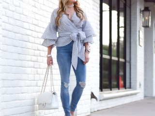 ruffled sleeves, wayf, wedges, affordable fashion, chanel handbag, chanel jumbo quay sunglasses