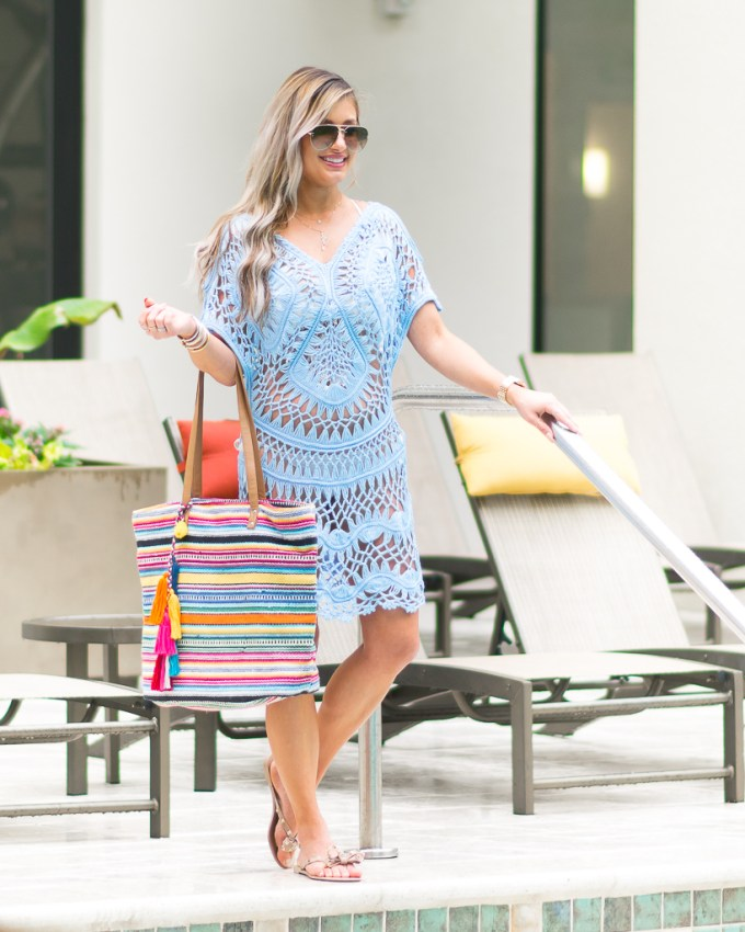 crochet cover up swim beach bag