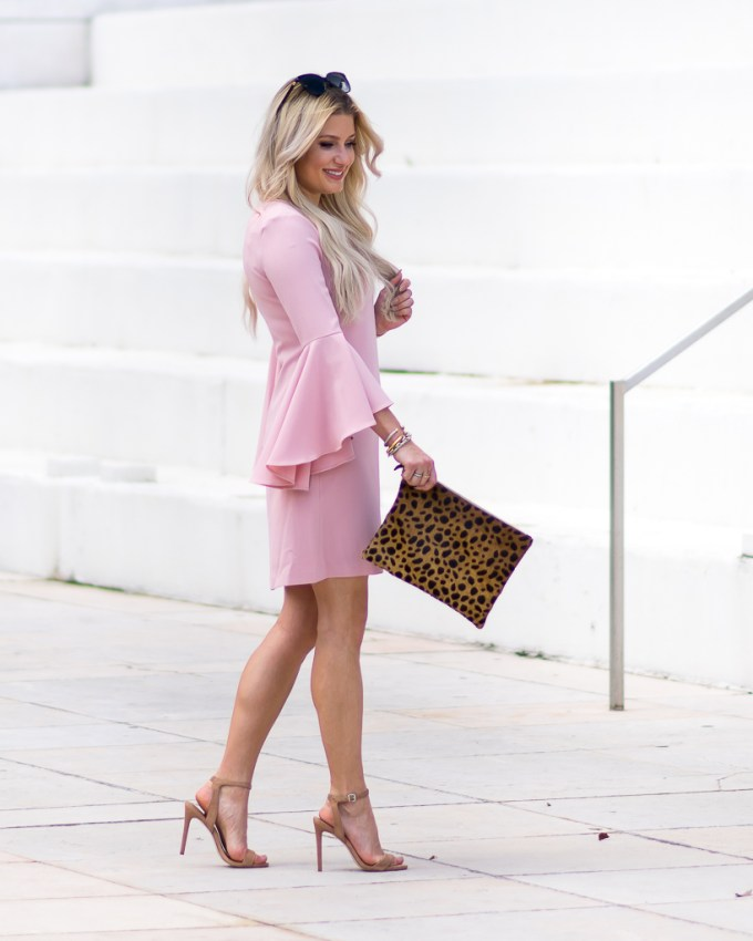 pink bell sleeve dress nordstrom