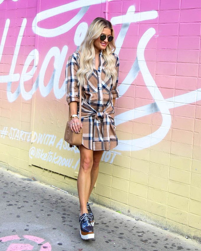 gucci bag soho plaid dress