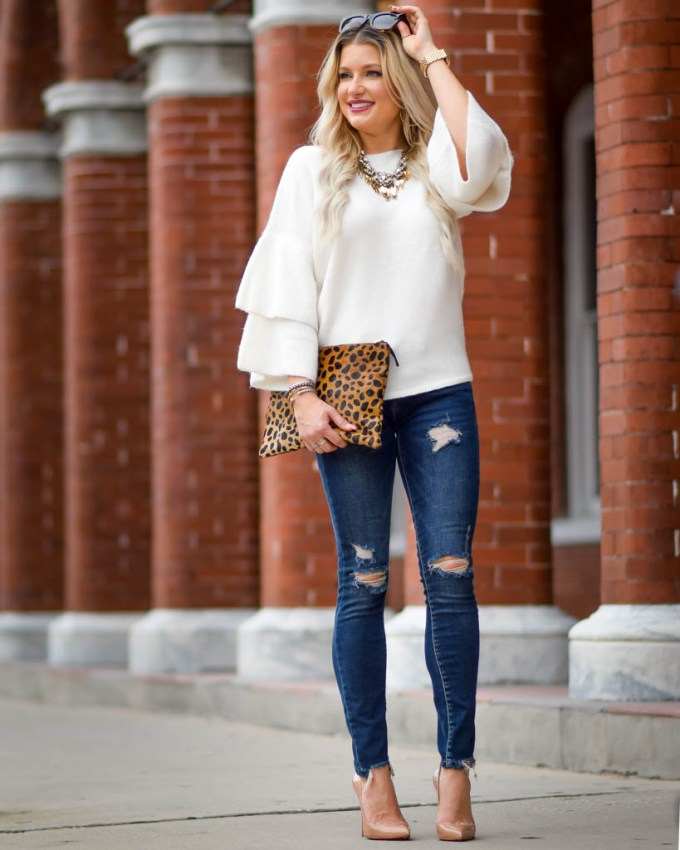 madewell nordstrom leopard clutch