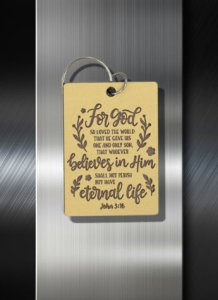 For God so loves the world John 3 16 key Ring