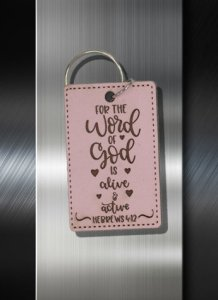 Key ring For The Word of God is Alive and Active Hebrews 04 12