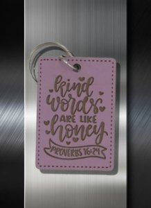 Key ring Kind Words are Like Honey Proverbs 16 24