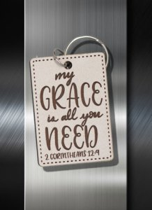 Key ring My Grace is All You Need 3 Cor 12 09 B