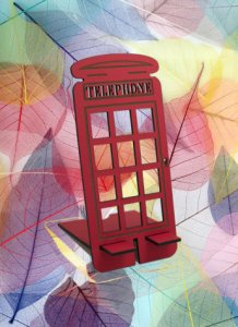 British telephone booth red