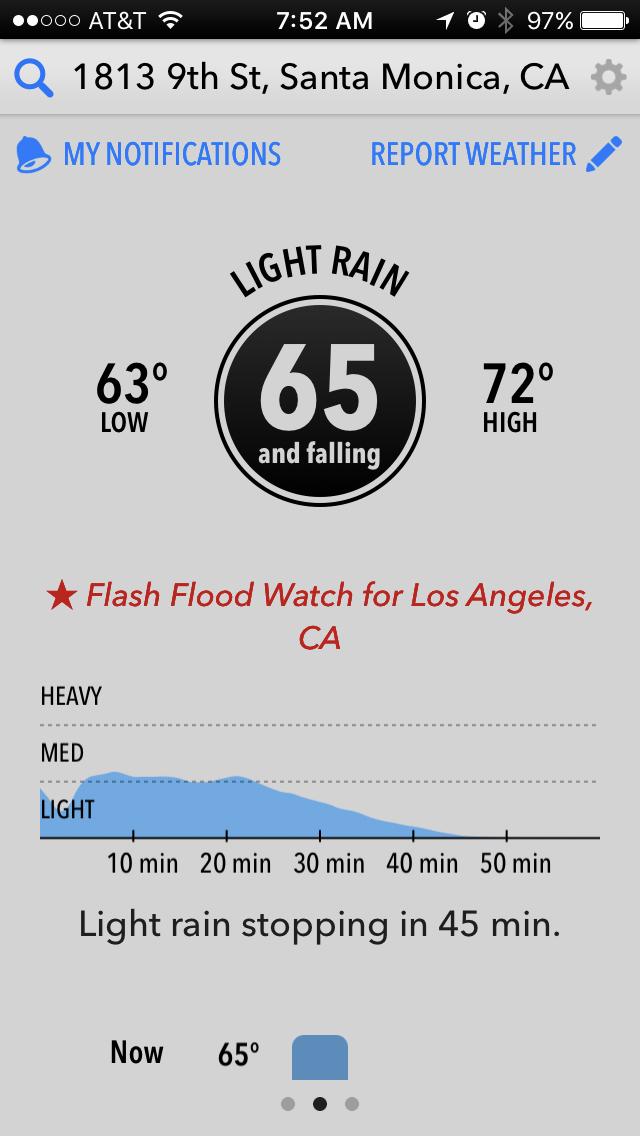 Dark Sky Weather app launch screen
