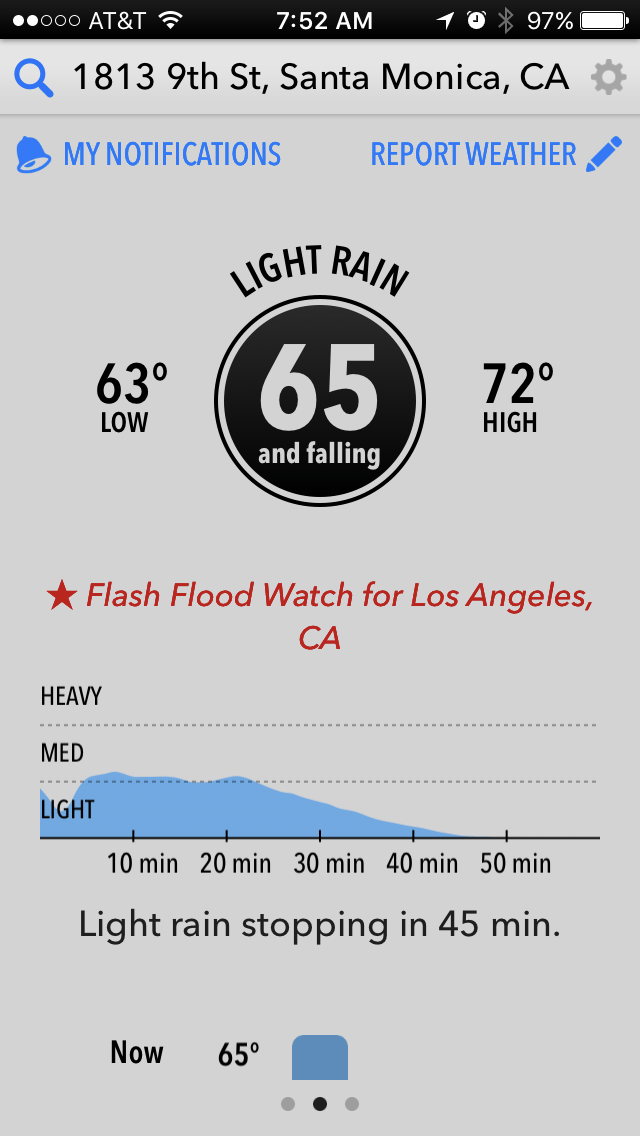 Dark Sky Weather app launch screen