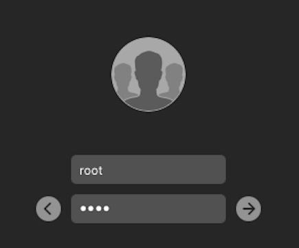 Logging in as root