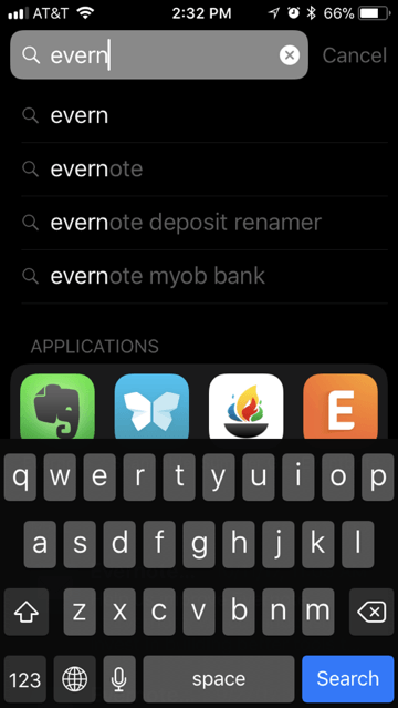 Spotlight results covered by keyboard in iOS 11