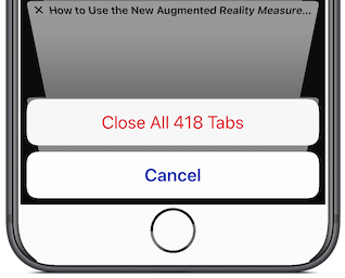 Extend your iPhone's battery life by closing unneeded Safari tabs