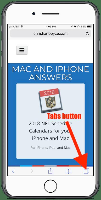iOS Safari's Tabs button