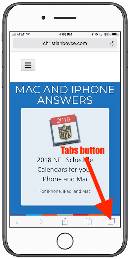 iOS Safari's Tabs button