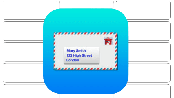 Address Labels for CardLists icon on field of mailing labels