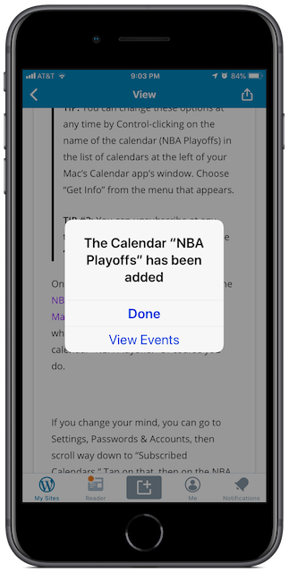 Message on iPhone after subscribing on your iPhone.