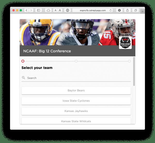 Choosing a team