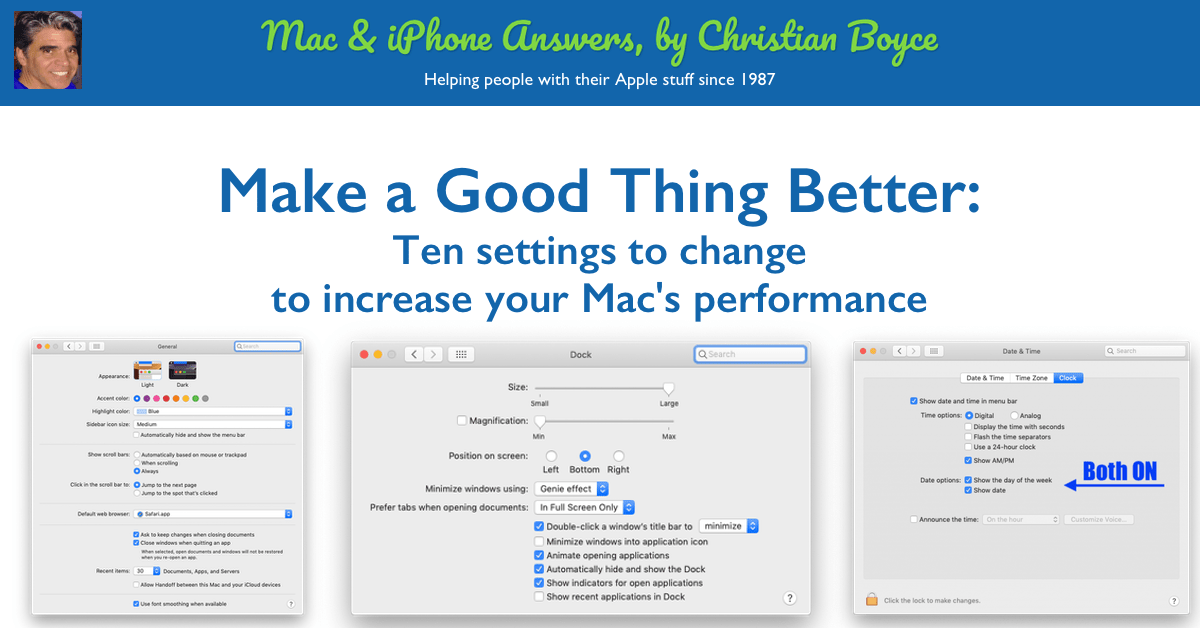 Ten settings to change to increase your Mac's performance