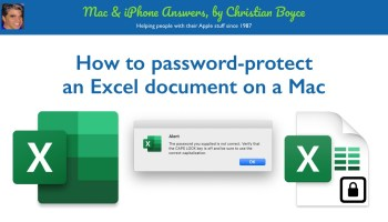 How to password-protect an Excel document on a Mac