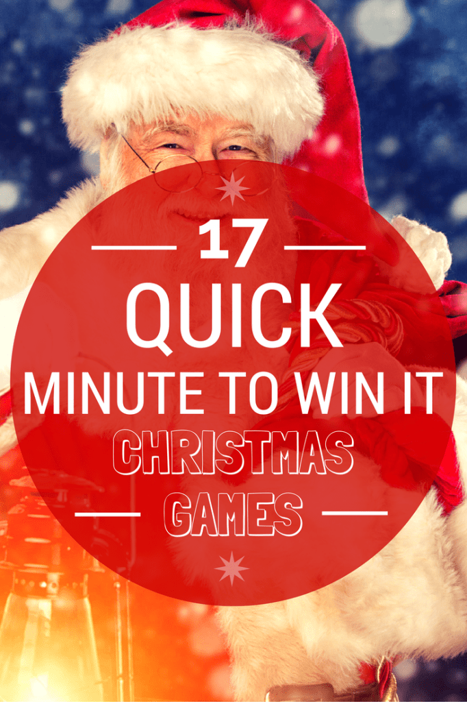 17 Quick    Minute To Win It  Christmas Games for your Christmas events  Don t forget you can alter the rules of these games to fit your specific  needs