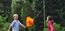 Great Tether Balls-A-Fire