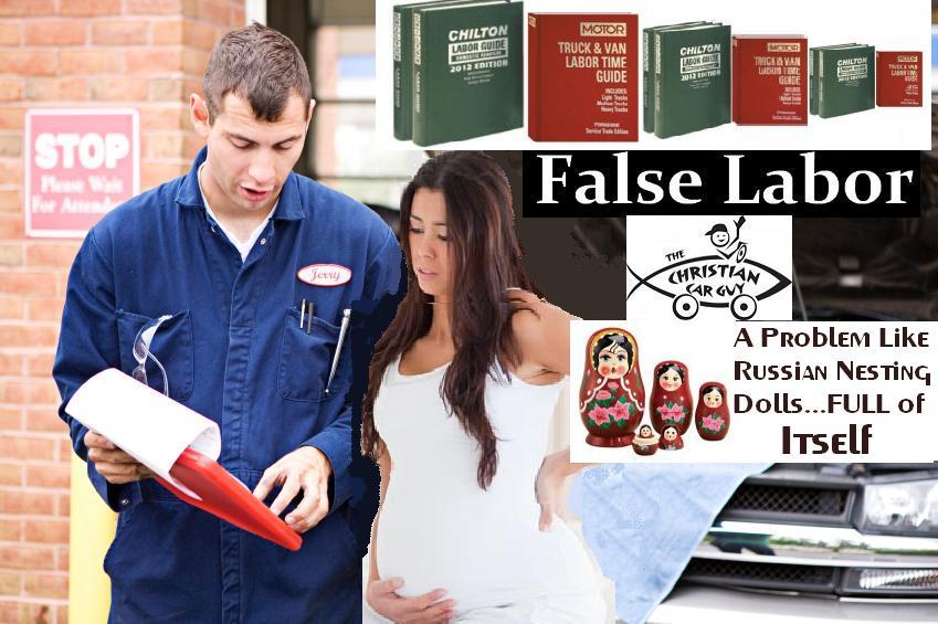 False Labor Banner