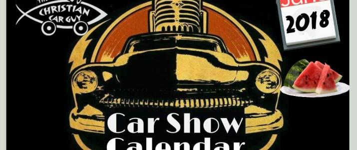 Car Show Calendar June 2018