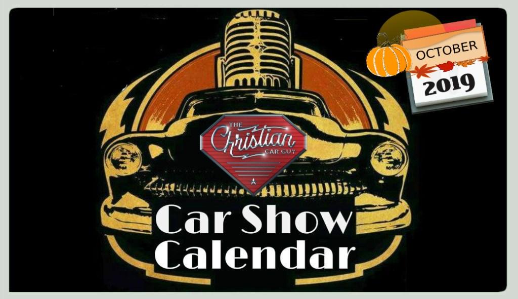 Car Show Calendar October 2019