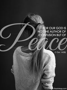 God is the Author of Peace