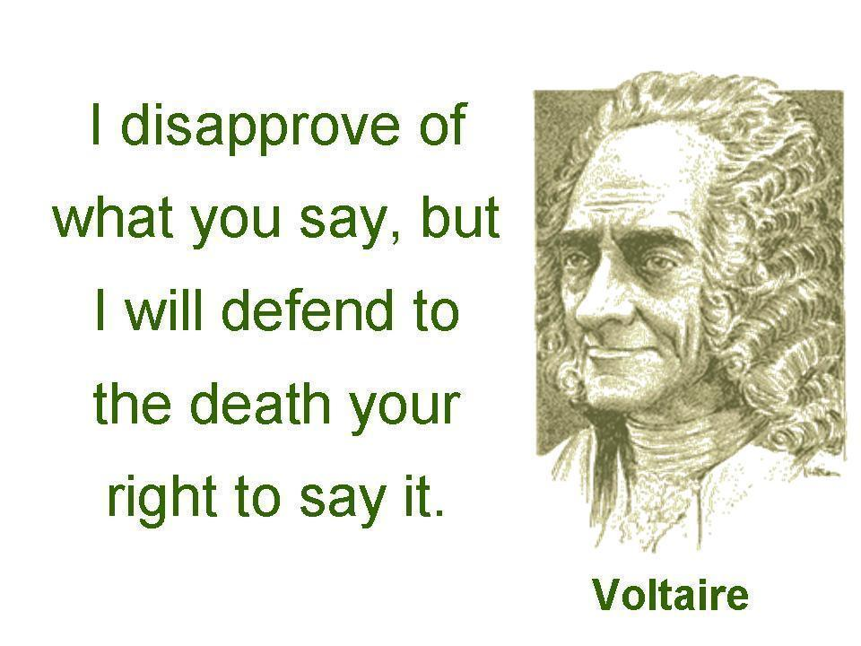 Freedom of Speech Voltaire
